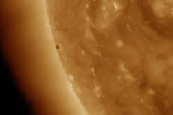 NASA Mercury Sun Transit Livestream Photos