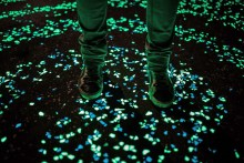 Researchers create glow-in-the-dark cement to light up cities without using electricity