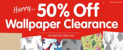 Wallpaper Clearance & Sale   Cheap Wallpaper & Decorating Offers