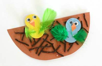 Spring Crafts for Kids: Nest and Baby Bird Craft - Buggy and Buddy