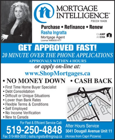 Mortgage Intelligence-Rasha Ingratta - 3041 Dougall Ave, Windsor, ON