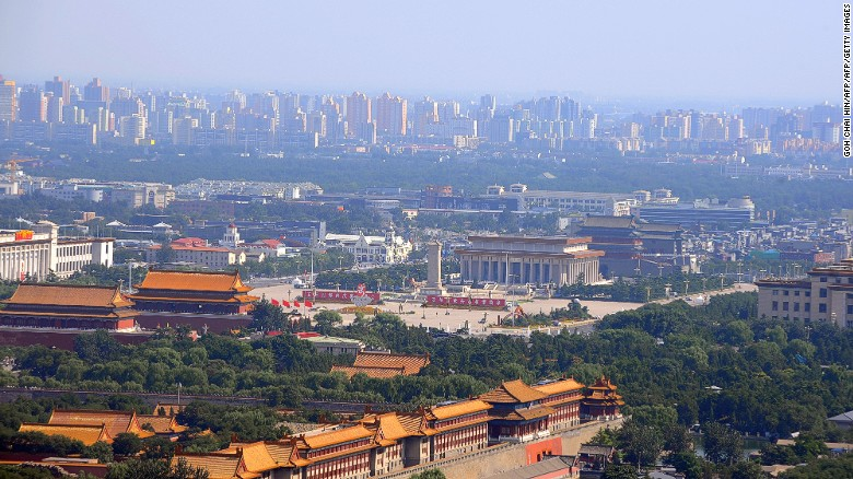 Beijing s population falls for first time in 20 years   CNN Beijing  39 s Forbidden City and Tiananmen Square in the Chinese capital   taken