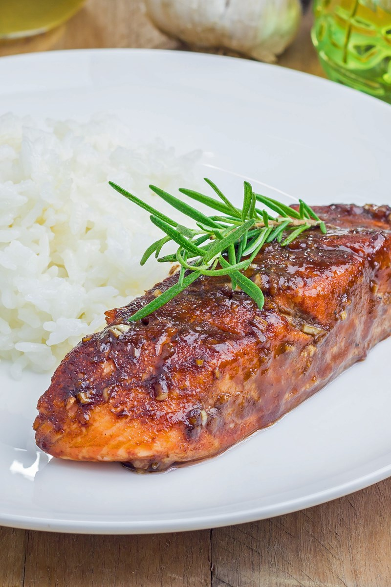 Sweet Skinny Balsamic Glazed Salmon Fillets 42661 Salmon Steak Recipe Pan Salmon Steak Recipe Gordon Ramsay nice food Salmon Steak Recipe