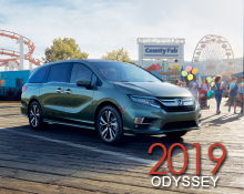 Honda Vehicle Brochures   Northwest Honda     Honda 2019 odyssey Brochure