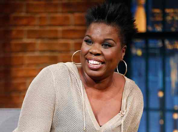 LATE NIGHT WITH SETH MEYERS -- Episode 205 -- Pictured: Leslie Jones, SNL cast member, during an interview on May 12, 2015 -- (Photo by: Lloyd Bishop/NBC/NBCU Photo Bank via Getty Images)