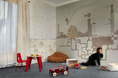 Wallpaper for the Kids Room by Tres Tintas Barcelona