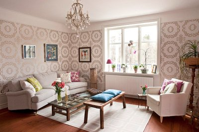 20 Eye-Catching Wallpapered Rooms
