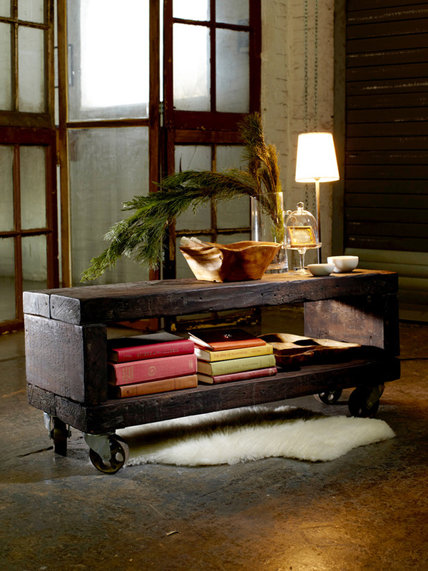 view in gallery industrial reclaimed wood coffee table 12 gorgeous diy tables furniture ideas w