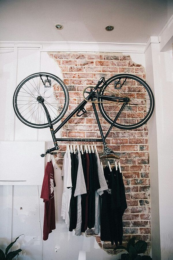 clothes hanger - bicycle rack