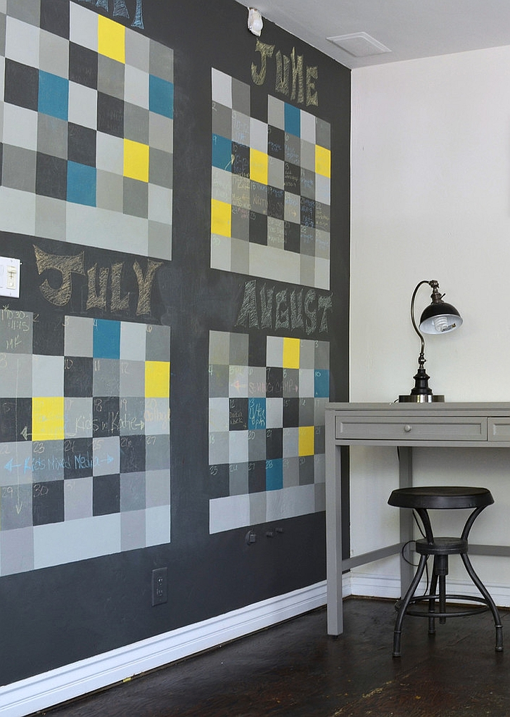 I View In Gallery Chalkboard Wall Shapes A Dynamic And Fun Calendar The  Home Office From Sarah