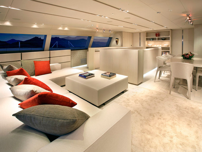 Jaw Dropping Yacht Interiors and Decor That Blow You Away  View in gallery You almost can t tell that this is an yacht interior