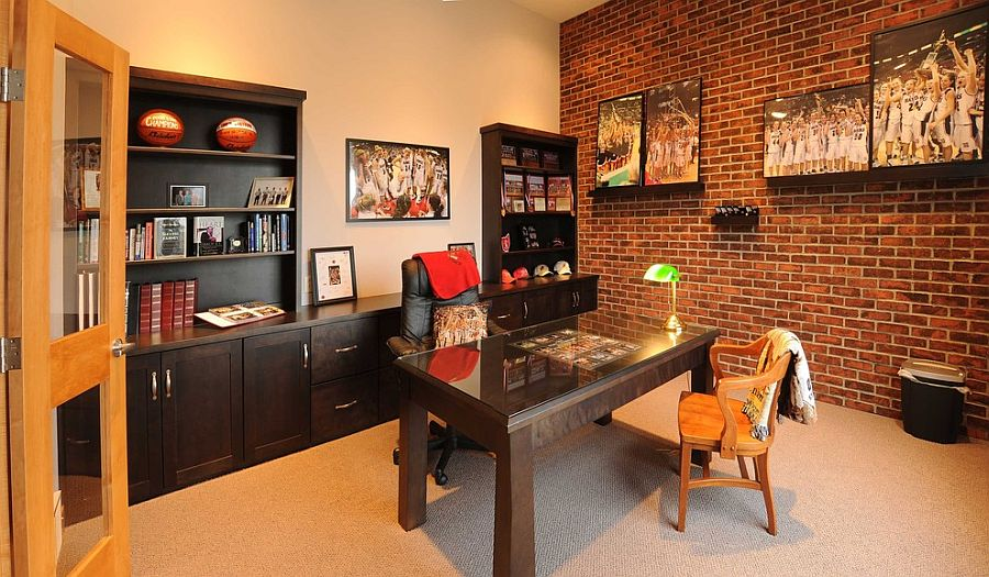 Office Wall Furniture Turn The Lone Brick Wall In Your Home