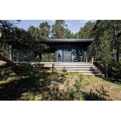 Majestic In Gallery Scandinavian Log Cabin Set On A Baltic Sea Island Log Cabin Exterior Log Cabin Living Room curbed Modern Log Cabin