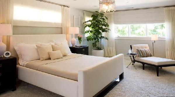 bed under window white black furniture