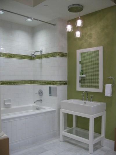 Green Border Tiles - Contemporary - bathroom