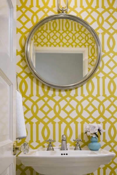 Kelly Wearstler Wallpaper - Contemporary - bathroom - Jute ...