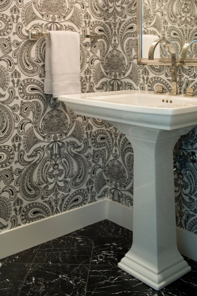 Powder Room Wallpaper Design Ideas