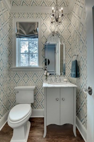 Quatrefoil Wallpaper - Contemporary - bathroom - Great Neighborhood Homes