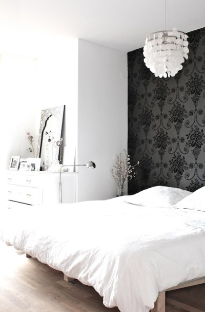 Wallpaper Accent Wall - Transitional - bedroom - My Scandinavian Home