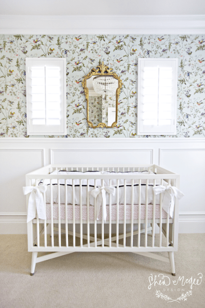 Wallpaper for Nurseries - Transitional - nursery - Tracey Ayton Photography