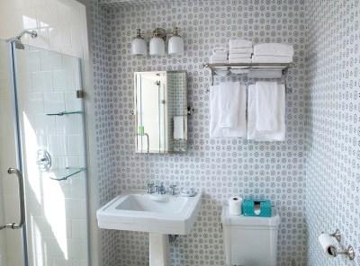 China Seas Cecil Wallpaper, Transitional, Bathroom