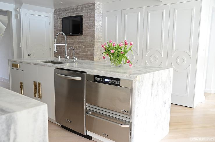 Kitchen Island With Warming Drawer And Microwave Dishwasher Microwave Drawer In Island R73