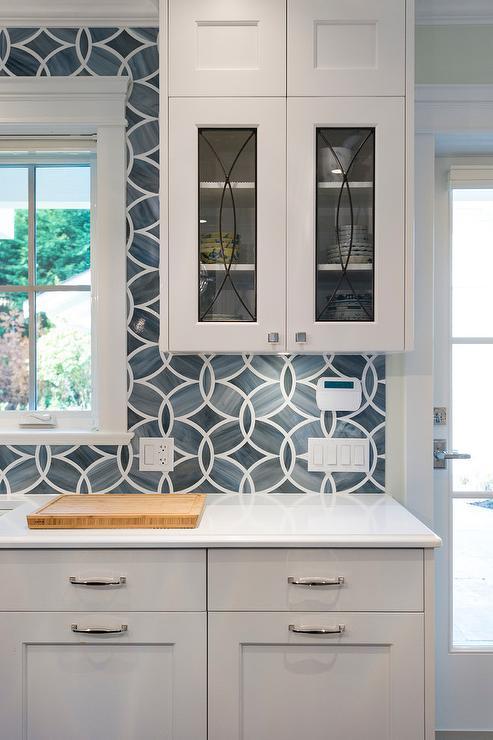 Delighful Ann Sacks Glass Tile Backsplash Blue Kitchen With Eclipse Intended Ideas