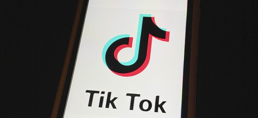 TikTok displayed on an iphone6