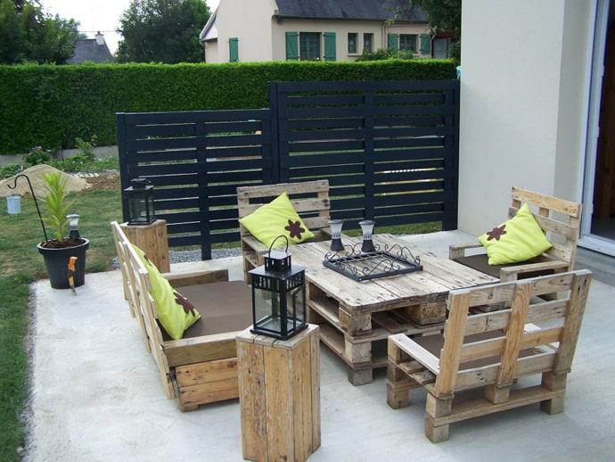 pallet garden furniture from pallets