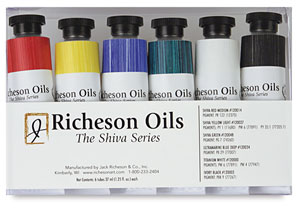 Richeson Oils The Shiva Series, Basic Set of 6 Colors