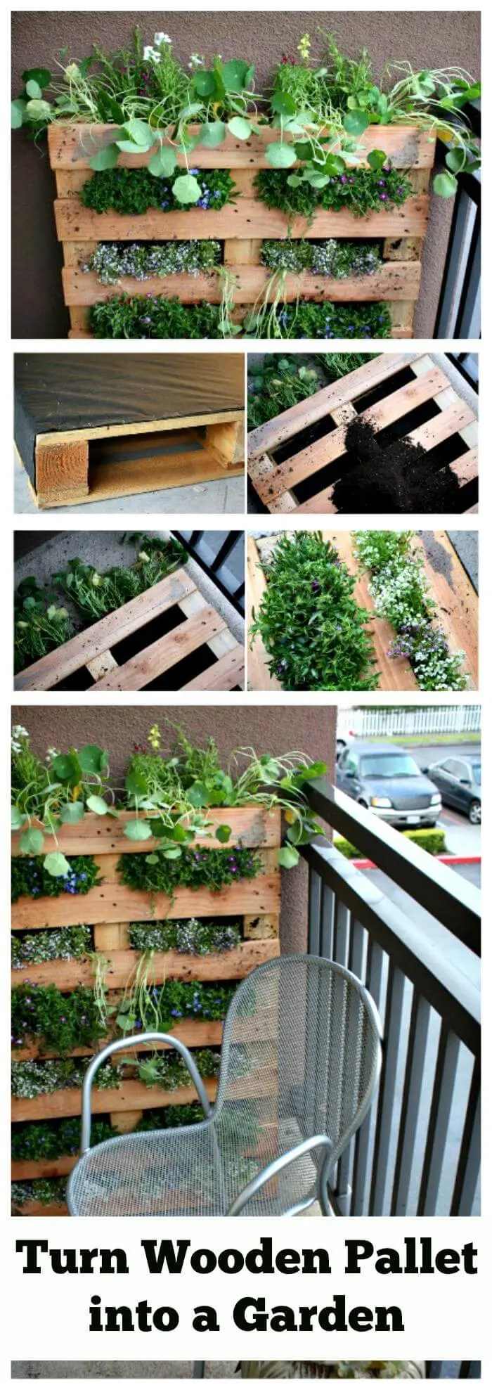 Large Of Horizontal Pallet Garden