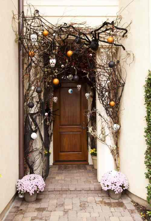 Medium Of Halloween Door Decorations