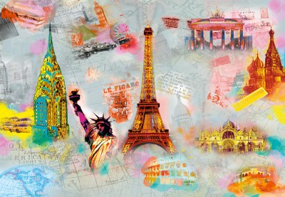 AROUND THE WORLD Wall Mural | Buy at EuroPosters