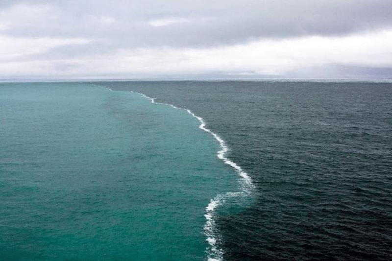 4. Место встречи Атлантики с Арктическими водами река, течение