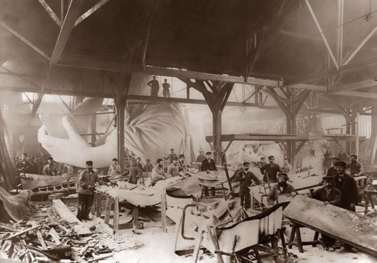 Работа над Статуей Свободы в Париже, 1884 год история, факты, фото