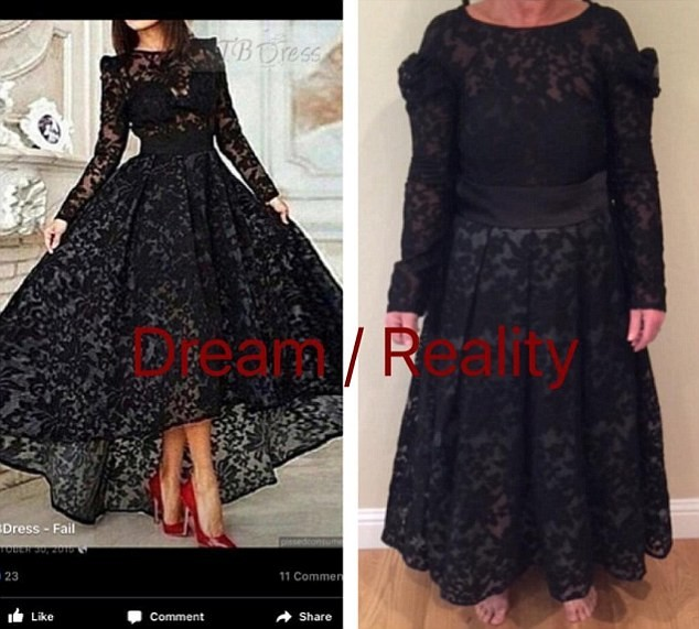 Мечта и реальность  ожидание и реальность, платье