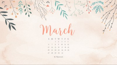 March 2016 free calendar wallpaper – desktop background