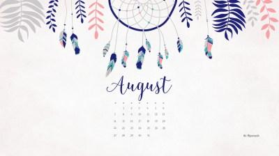August 2016 free calendar - desktop wallpaper
