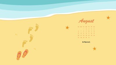 August 2017 calendar wallpaper for desktop background