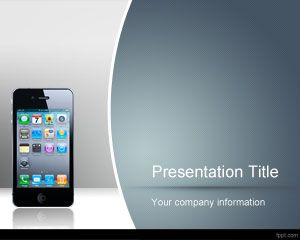 Free iPhone Wireframe PowerPoint Template