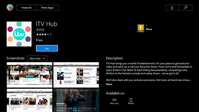 ITV Hub catchup service finally available on Xbox One     Eurogamer net ITV Hub is the BBC iPlayer equivalent for all the ITV channels   ITV1   ITV2  ITV3  ITV4  CITV and ITVBe  which is a lot of channels to fill with  Midsomer