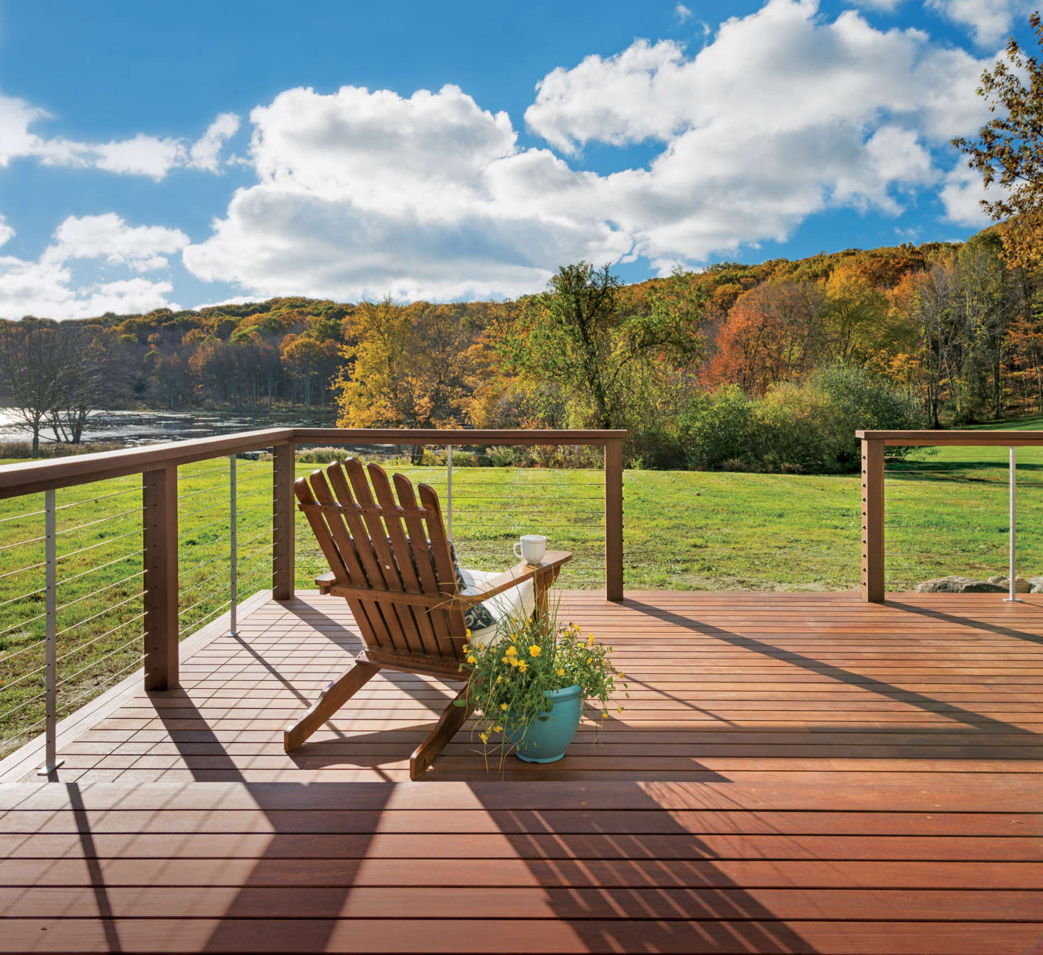 Luxurious Unobstructed Cable Railing Infills From Feeney Cable Rail Installation Feeney Cable Rail End Caps Feeney Cablerail Allows houzz 01 Feeney Cable Rail