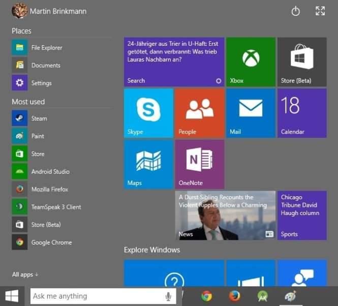 Daftar Tombol Pintas Dekstop Windows 10
