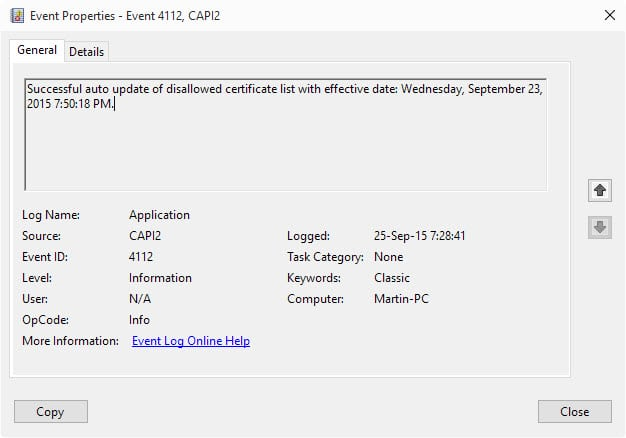 revoked certificate