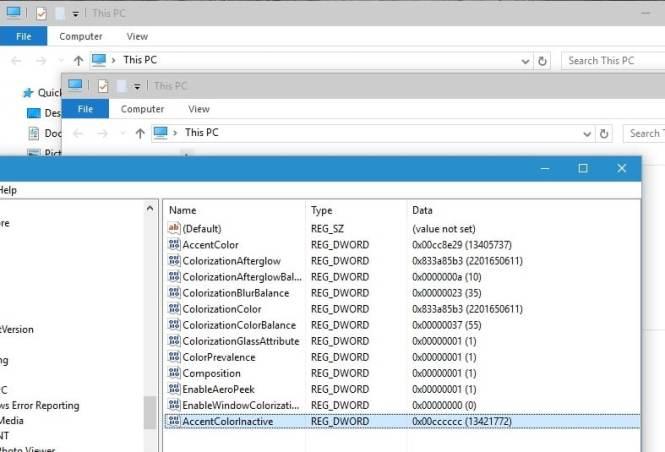cara Mengubah warna jendela aktif di Windows 10