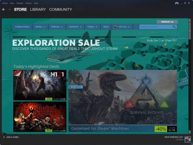 steam exploration sale