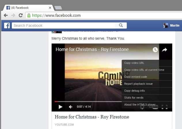 facebook flash video