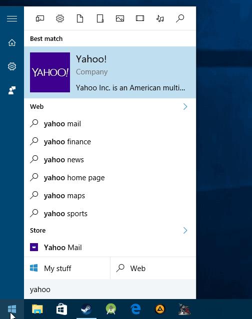 Cara Setting Search Engine default pada Windows 10