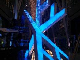 Glowing Xmas Snowflake Sculpture