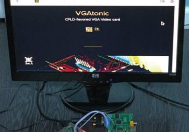 SPI and TTL Serial VGA Graphics Card - VGATonic